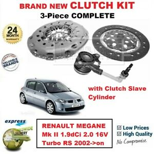 For Renault Megane Ii 1 9dci 2 0 16v Turbo Rs 2002 On New 3pc Clutch Kit Csc