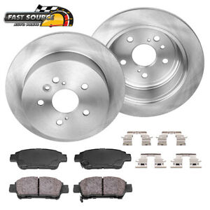 Rear Rotors Ceramic Pads For 2004 2005 2006 2007 2008 2009 2010 Toyota Sienna