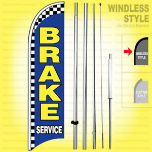 Brake Service Windless Swooper Flag Kit 15 Feather Banner Sign Bb h