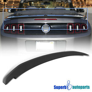 For 2010 2014 Ford Mustang Matte Black Factory Oe Style Rear Trunk Spoiler Wing