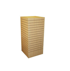 Slatwall Tower Unit Retail Store Display Fixture 24 X 24 X 54 Maple