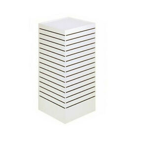 Slatwall Tower Unit Retail Store Display Fixture 24 X 24 X 54 White