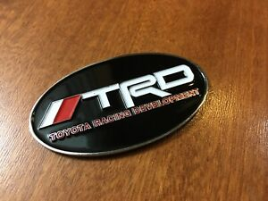 Oval Trd Emblem Badge Stickers Snorkel 4runner Tacoma Suv Toyota 70mm X 40mm