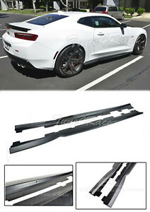 For 16 up Chevy Camaro T6 Style Side Skirts Rocker Panels Abs Plastic 6th Gen