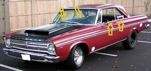 1965 Plymouth Belvedere 2 Door Hardtop Window Weatherstrip Kit 8pcs