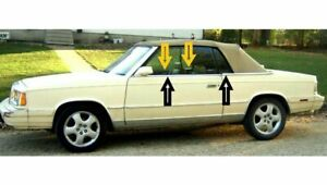 1982 1986 Chrysler Lebaron Convertible Window Weatherstrip Kit 8pcs