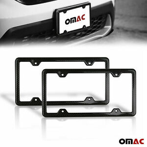 2 Pcs Real Carbon License Plate Frame Tag Holder For Jeep Grand Cherokee