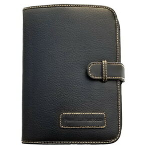 Perry Ellis Portfolio Leather Expandable Personal Organizer Planner