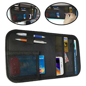Car Sun Visor Organizer Document Holder Vehicle Suv Interior Accessories Pocket