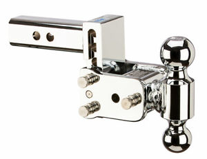 B w Tow Stow Adjustable Trailer Hitch Ball Mount Chrome Ts10033c