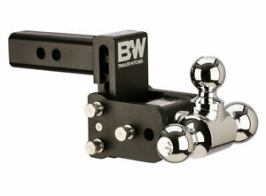 B W Tow Stow Adjustable Trailer Hitch Ball Mount Black Ts10047b