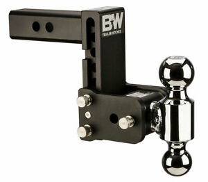 B w Tow Stow Adjustable Trailer Hitch Ball Mount Black Ts10037b