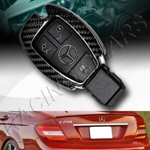 Real Carbon Fiber Remote Key Shell Cover Case Fit Mercedes Benz W203 W210 W211