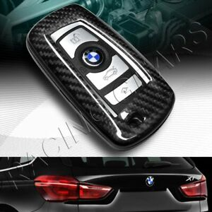 100 Real Carbon Fiber Remote Key Shell Cover Case Fit Bmw 1 2 3 4 5 6 7 Series