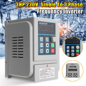 Upgrate 2 2kw 3hp Single To 3 Phase Variable Frequency Drive Inverter Cnc Vfd