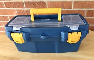 16 Plastic Tool Box With Handle Tray And Compartment Storage Utility