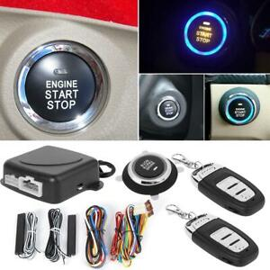 Car Keyless Entry Engine Start Alarm System Push Button Remote Starter Stop Set