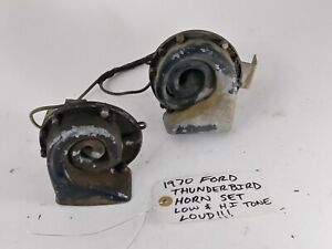 Oem 1970 Ford Thunderbird Horn Set High Tone And Low Tone Loud