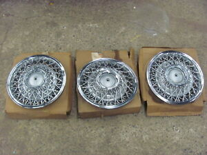 Lot Of 3 Chrysler Dodge Spoked Hubcaps Hub Caps Imperial Cordoba 79 84 Nos 80