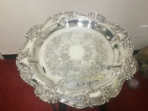 Antique Towle Silver Plated Platter Tray Beautiful Condition