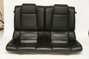 05 09 Ford Mustang Rear Leather Seats Black Oem