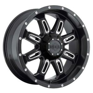 20 Inch 20x9 Gear Off Road 725mb Dominator Black Wheel Rim 6x5 5 6x139 7 18