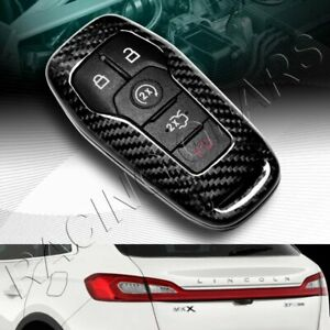 Real Carbon Fiber Remote Key Shell Cover Case Fit Ford Mustang Edge F150 Fusion