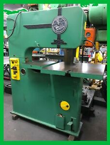 Doall V 36 Band Saw 36 Deep Blade Welder annealer Tilt Table Extended Table