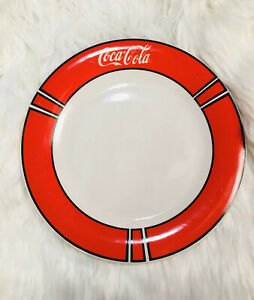 VINTAGE ~ COCA COLA plate ~ 1997 Coca-Cola GIBSON Dinner Plate Red/white Collect