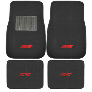4pc Racing Red Ss Car Truck Front Rear All Weather Carpet Floor Mats Fit Chevy