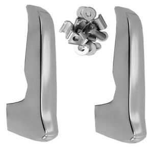 67 70 Chevy Gmc C10 Truck Triple Chrome Plated Front Bumper Guards