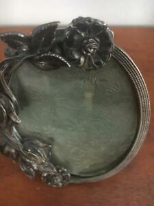 Turn Of Century Easel Picture Photograph Picture Frame Silver Plate