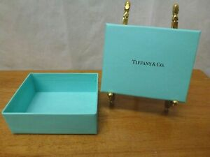 Tiffany Co Blue Gift Jewelry Box 3 1 2 X 2 3 4 X 1 3 4 High With Lid On