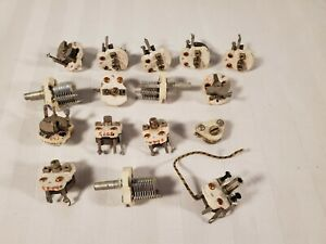 16 Mixed Vintage Sickles Air Variable Capacitors For Ham Radios