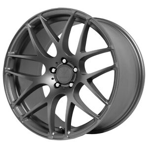 Staggered Verde Empire Front 18x8 5 rear 18x9 5 5x120 30mm Graphite Wheels Rims