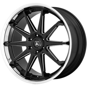 4 asanti Abl 29 Emperor 22x10 5x120 30mm Black milled Wheels Rims 22 Inch