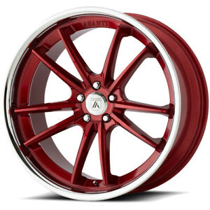 4 asanti Black Abl 23 Delta 22x9 5x120 32mm Candy Red Wheels Rims 22 Inch