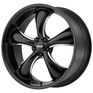 American Racing Ar912 Tt60 22x11 5x120 38mm Black Milled Wheel Rim 22 Inch