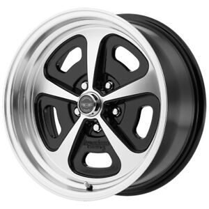 American Racing Vn501 Mono Cast 15x8 5x4 5 0 Black Machined Wheel Rim 15 Inch
