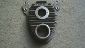 Vintage Weiand Small Block Chevrolet Finned Aluminum Timing Cover Gasser 7128