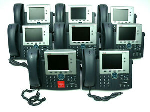 Lot Of 8 Cisco Cp 7945g 7945 Series Unified Two Line 5 Inch Color Ip Phone Used