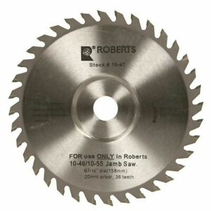 Roberts 6 3 16 In Door Jam Replacement Blade Fits 10 55 10 46 Jamb Undercut Saw