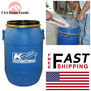 Kraft Tool Co Mixing Barrel With Lid 15 Gal Leveling Concrete Mixer
