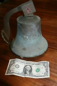 Vintage Marked 1834 Cast Bronze Ships Bell Nautical Foundry Mark