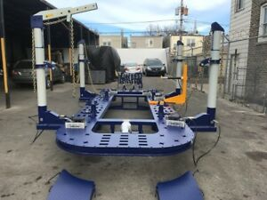25 Feet Long Auto Body Frame Machine 4 Towers With Clamps Hooks Tools Cart