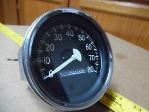 Only 862 Miles Nice Vtg 80 Mph Speedometer Odometer No Tenths Old 565hjf11