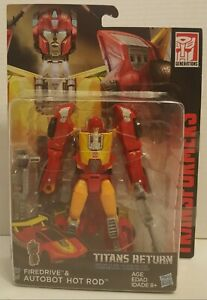 Transformers Titans Return Firedrive & Autobot Hot Rod Deluxe Class Hasbro 2016 $19.95