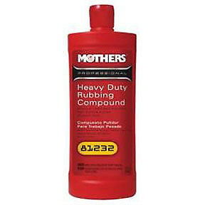 Mothers Wax Polish Heavy Duty Rubbing Compound Qt 81232