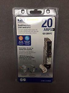 Square D Qo120dfc 20a Dual Function Afci gfci Breaker New In Package