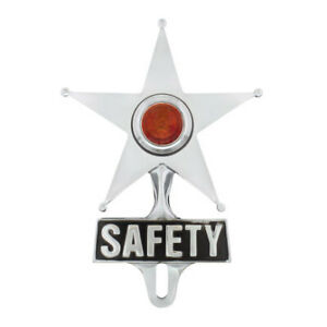 United Pacific Safety Star License Frame Ornament Amber C5050